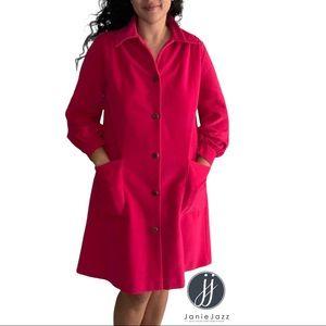Vintage 1960s Vanity Fair Pink House Coat Size 8